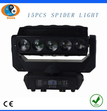 Wholesale manufacturer New stage 15pcs 12w rgbw 4in1 led moving head spider light