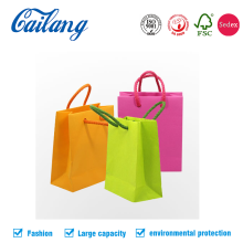 wholesale custom reusable printed paper shopping cosmetic gift handle bags with logos with 99% on time delivery