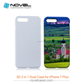 2016 Newest 3D 2IN1 PC+TPU case cell phone cover for iPhone7 plus