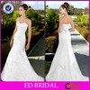 ED-YH2015 Vestidos De Novia Mermaid Lace Appliqued Lace Appliqued Muslim Bridal Wedding Dresses