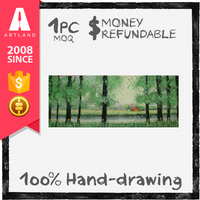 100% Handmade natural scenery painting from photo