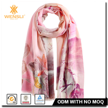 Chinese Wensli Cheap Shawl Printing Thick Wool Long Scarf