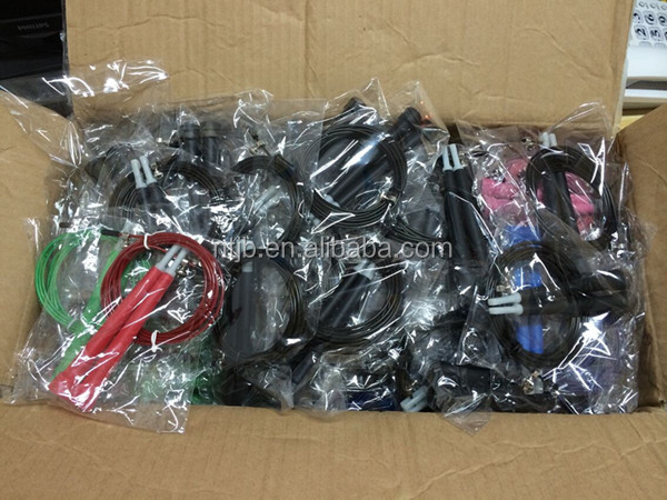 High Quality Crossfit gym Equipment Steel Cable Wire Bearing Speed Jump Rope