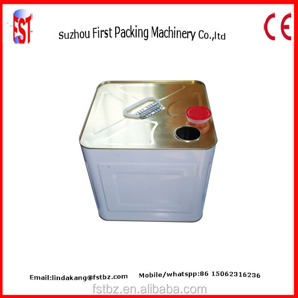 Chemical Products Lubricant Paint Barrel 20 litres Tin Square Making Machine