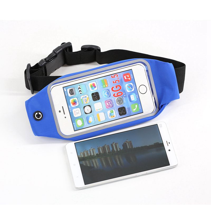 Waterproof Outdoor Sport Elastic Spandex Lycra Cell Phone Running Bum Bag Travel Hiking Fanny Pack Wasit Belt Running Waist Bag