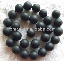 10mm round natural loose matte black agate names of black precious stones