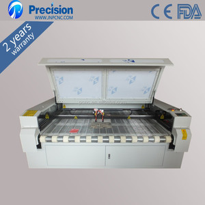 Alibaba golden supplier laser fabric strip cutting machine