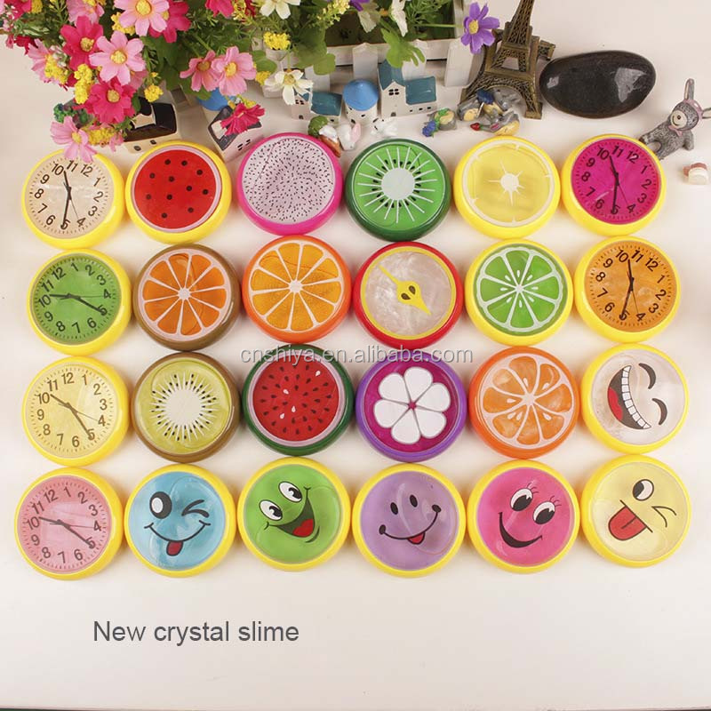 Anti-Stress Reliever cute Squeeze egg Slime Toy, Funny Tricky crystal fruit Toys Slime