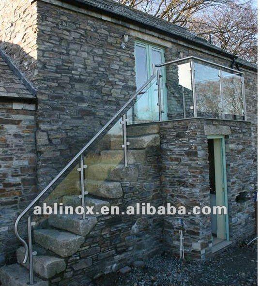Abl ringhiera delle scale giardino ringhiera di vetro frameless portico ringhiera disegni - Scale in giardino ...