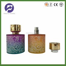 100ml luxury cylinder perfume glass bottle for personal care