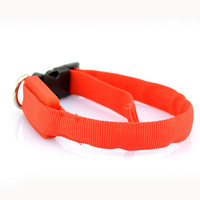 Brand new nylon flashing safety pet collars led dog collar light made in china