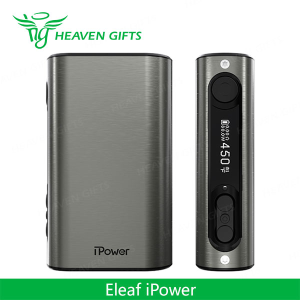 Heaven Gifts Wholesale Brushed Silver 80W Eleaf iPower TC MOD Smoking Pipes