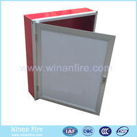 Aluminium Flame Door Fire Cabinet Hydrant Box for Fire Hose