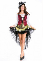 Sexy Ladies Halloween sexy Pirates of the Caribbean Pirate Costumes Fancy Dress Party Outfit