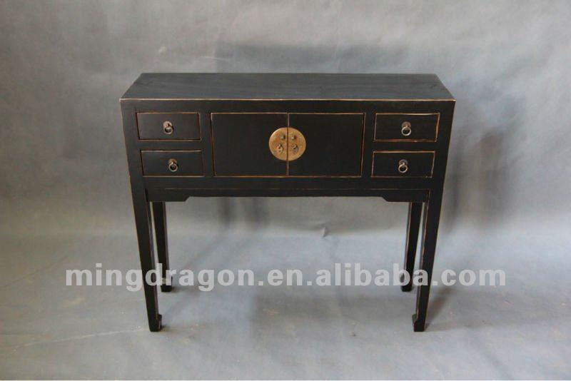 Muebles antiguos chinos pino madera negro lacquar mesa for Muebles antiguos chinos