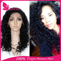Chinese factory wholesale kinky twist human hair cheap full lace wig free shipping