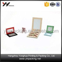 Customized eyeshadow paper cardboard packaging box with magnets palette cosmetic box