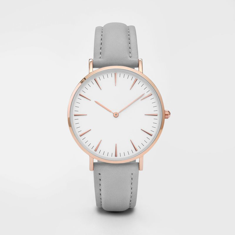 Ultra - thin simple Japan movem women waterproof watch leather strap luxury brand automatic