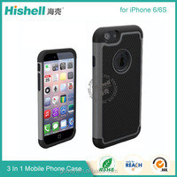 Hight quality TPU+Silicone+PC 3 in 1 Bumper case for iphone 6S