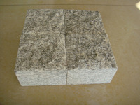 2016 best quality of grey granite cube stone