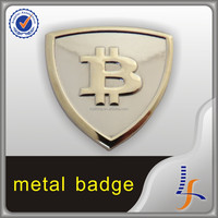 Top Grade Two Tone Bitcoin Souvenir Lapel Pin