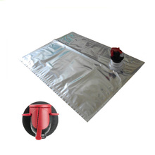 Custom aseptic bib empty fruit juice packaging bag in box