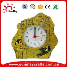 Polyresin table clock for souvenir items