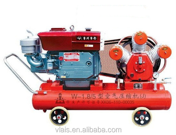 Low noise 15HP Air-cooled diesel air compressor, Piston compressor