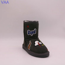Discount Cute Winter Low Price And Genuine Leather Snow Kids Boots In Stock JLX-CF-29