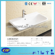 High Quality Top Mount Porcelain Vessel Sink