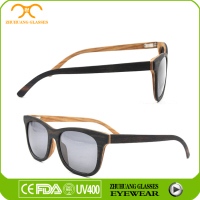 Hot selling Wood Fashion polarized bamboo sunglasses with UV 400 function