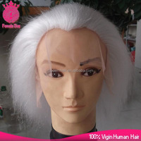 100% yak hair glueless adjustable lace front santa claus wig , beard