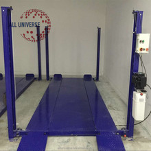 hydraulic laminated 4 post easy parking car lift for personal parking