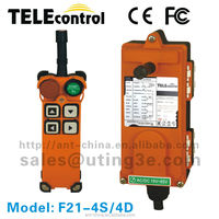 crane wireless radio remote control for hoist F21-4S radio remote control crane/radio crane remote control rc transmitter
