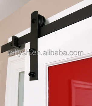 European Style Swing ceiling mount kitchen cabinets China supplier sliding steel Barn Door hardware