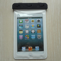 China supplier black pvc waterproof bag for GALAXY Tab 3 Lite T110 with neck cord for swimming