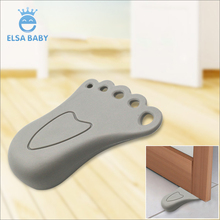 Manufacturer Factory FOOT shape Shape TPR Door Stopper Safety Infant/kid/baby Security Wholesale