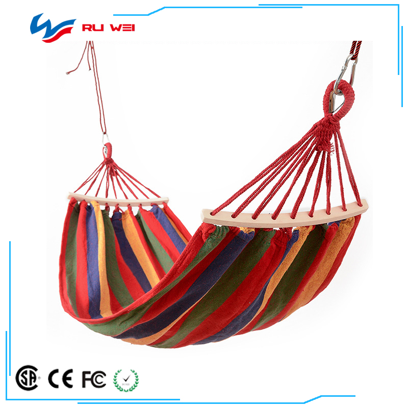 Colorful Multifunctional Hammock Cotton Fabric Travel Camping Hammock for Bedroom Indoor Hammock Chair Bed Outdoor