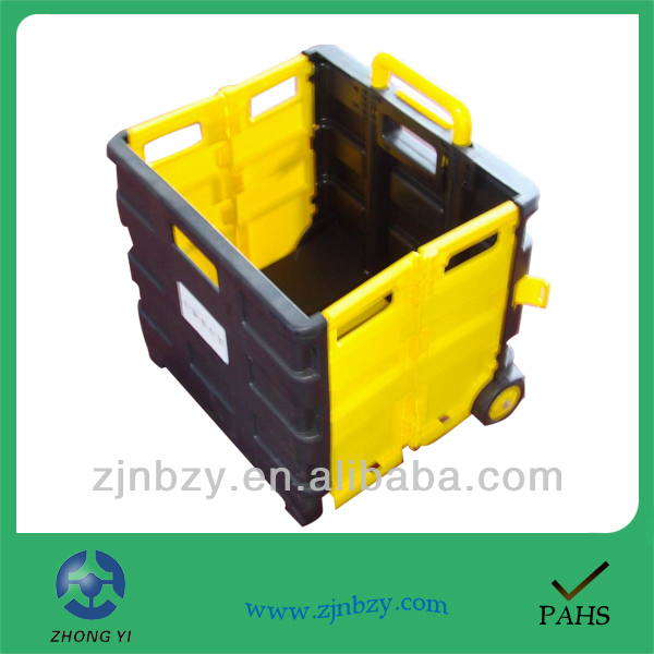 2019 less space car use plastic folding supermarket shopping trolley
