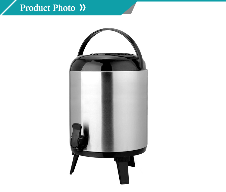 Vacuum stainless steel water coffee jug with side handle and big capacity for family