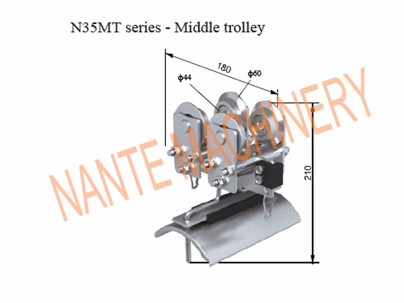 N35MT Series Middle Trolley for I-Beam Festoon