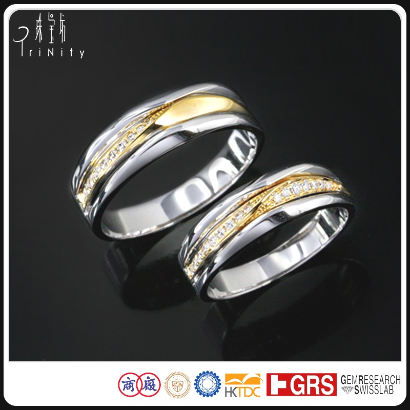 Alibaba Wholesale Jewellery China Factory Direct Price 14K 18K Gold Platinum Diamond Ring Supplier Hong Kong Designs Jewelry