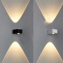 aluminum modern COB 6W bedroom LED wall lamp light direct upward and downward warm white for sales