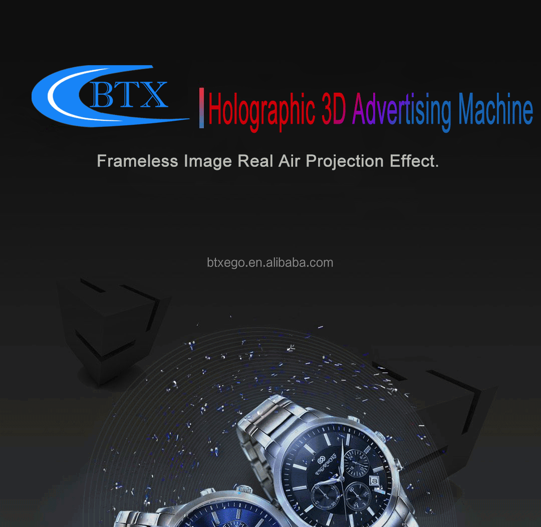 Hot Express Holographic 3D Display Led Fan Advertising Machine Hologram LED Fan with Cover