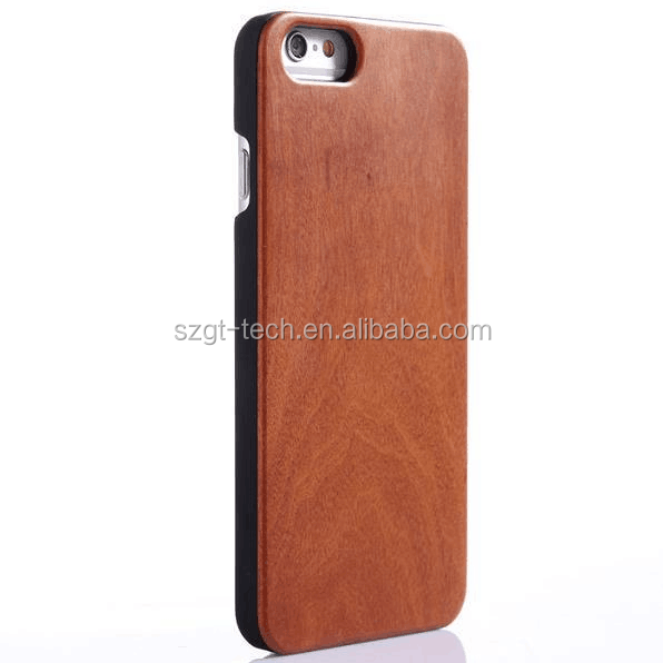 Natural sapele wood case best selling wooden phone shell PC bottom cell phone cover for iPhone 6s