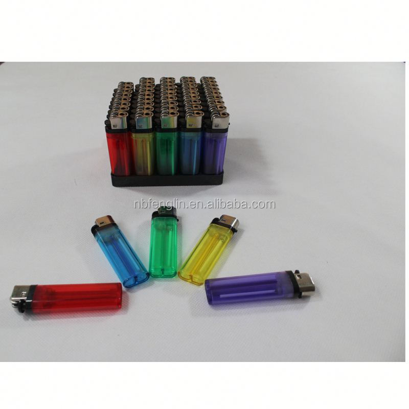 China factory cheap price FL-601 transparent color plastic disposable flint infrared lighter