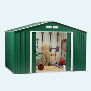 8X6 Outdoor Garden Storage Shed Tool Utility Backyard Patio Steel Toolshed shed kits