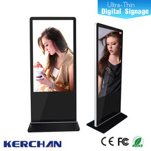 Floor standing lg screen 55 inch interactive multi touch table/digital signage player with ir motion sensor