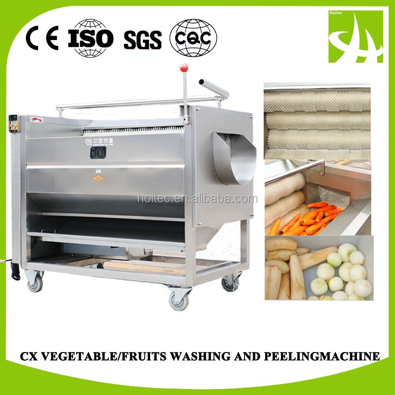 Fresh fruits and vegetables washing & Peeling Machine , Potato peeler and washer