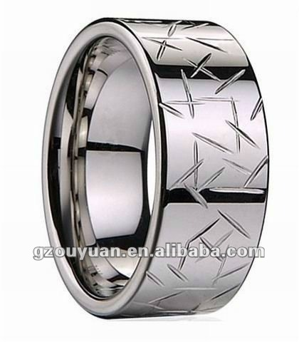 Men's Ring Tungsten Carbide Bands Wedding Ring Size 4 - 16